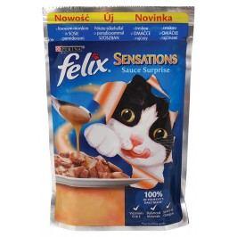 FELIX Sensations Sauce Surprise - kapsička pro kočky 20x100g s treskou v omáčce s příchutí rajčat