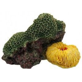 Aqua Excellent Dekorace akv. Mořský Korál zelenožlutý 12,5x9,5x7,6cm