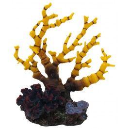Aqua Excellent Dekorace akv.Mořský Korál žlutofialový 12,5x8,1x13cm