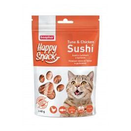 Beaphar Pochoutka Happy Snack Cat sushi s tuňákem a kuřetem 40g