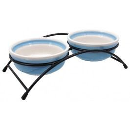 Set Magic Cat misky keramické se stojánkem šedé 2*12,5x5cm