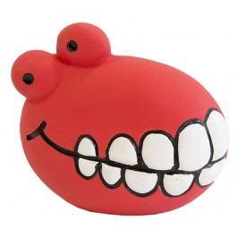 Hračka Dog Fantasy Latex Zuby se zvukem červená 8cm