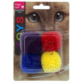 Hračka Magic Cat míček bavlna s catnip 3,75cm 4ks