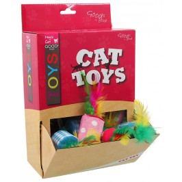 Hračka Magic Cat válec s pírky bavlna 5cm 24ks