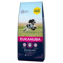 Eukanuba Puppy Medium 15kg + 3kg zdarma
