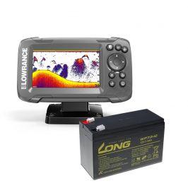 Lowrance Echolot HOOK² 4x GPS se Sondou Bullet Skimmer  + baterie ZDARMA