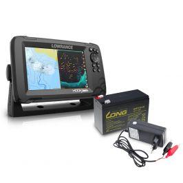 Lowrance Echolot Hook Reveal 7 se Sondou HDI 83/200khz + baterie + nabíječka ZDARMA