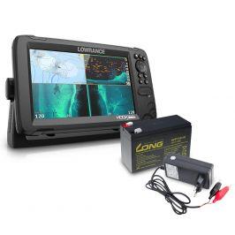 Lowrance Echolot Hook Reveal 9 se Sondou HDI 50/200khz + baterie + nabíječka ZDARMA