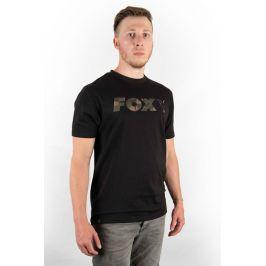 Fox Triko Black/Camo Chest Print T-Shirt