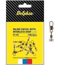 Delphin Karabinka s obratlíkem Inline Head Swivel with Interlock 10ks
