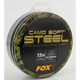 Fox Vlasec Camo Soft Steel 1000m - Dark Camo 0.33mm 16lb/7.27kg