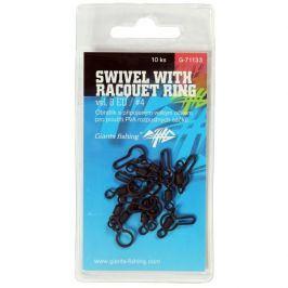 Giants Fishing Obratlík Swivel with Racquet ring UK.4 (vel.8 EU) 10ks