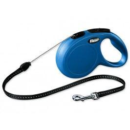 Vodítko FLEXI Classic New lanko modré S - 8 m