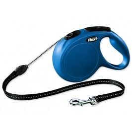 Vodítko FLEXI Classic New lanko modré M - 8 m