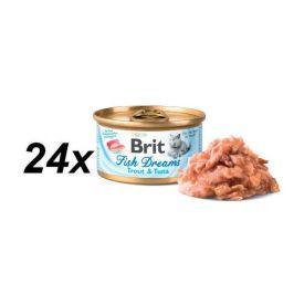 Brit Fish Dreams Trout & Tuna 24x80g