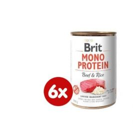 Brit Mono Protein Beef & Brown Rice 6x400g