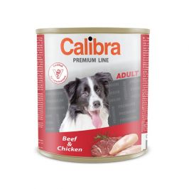 Calibra Dog Premium Adult hovězí + kuře, 800g