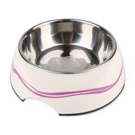 Dog Fantasy nerez miska kulatá purpurové vlnky 350ml