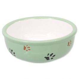 Magic cat Miska keramická kočičí tlapka zelená 13 cm