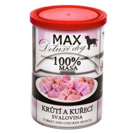 FALCO MAX deluxe krůtí a kuřecí svalovina 6x400g