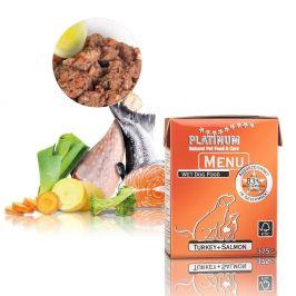 Platinum Natural Menu Turkey + Salmon 375 g