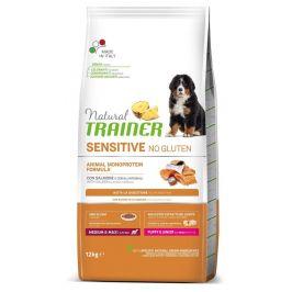TRAINER Natural SENSITIVE No Gluten Puppy&Jun M/M losos 12 kg