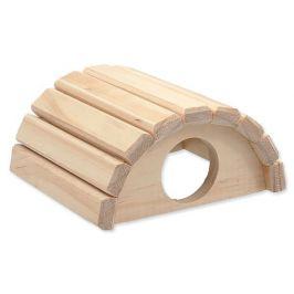 SMALL ANIMAL Domek půlkruh dřevěný 16,5 x 15 x 8 cm