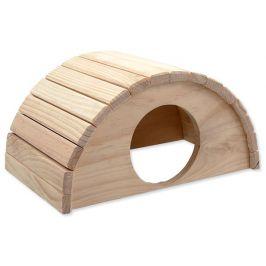 SMALL ANIMAL Domek půlkruh dřevěný 31 x 20 x 15,5 cm