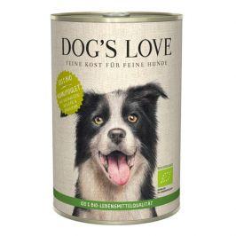 Dog's Love konzerva 100 % BIO Organic kuře 400 g