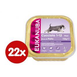 Eukanuba vanička Puppy Chicken 22x150g