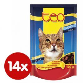 Dibaq TEO paštika kočka hovězí 14x100 g