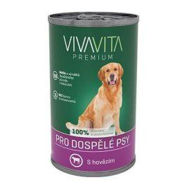Vivavita konzerva pro psy hovězí 1240 g