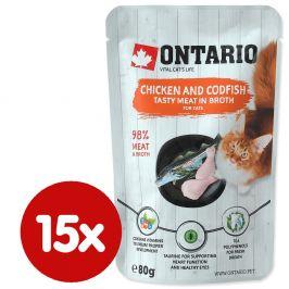 Ontario kaps. Chicken and Codfish in Broth 15x80 g