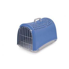 IMAC Přepravka pro psa a kočku plastová, modrá 60x40x40 cm - rozbaleno