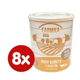 FALCO FARMKA DOG s kuřetem 8x800 g
