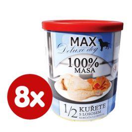 FALCO MAX deluxe 1/2 kuřete s lososem 8x800 g