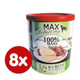 FALCO MAX deluxe 1/2 kuřete se zvěřinou 8x800 g