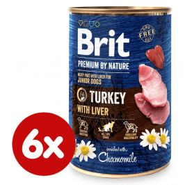 Brit Premium by Nature Turkey with Liver 6x400 g