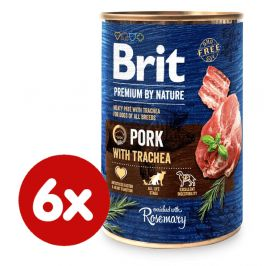 Brit Premium by Nature Pork with Trachea 6x400 g