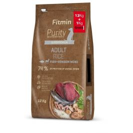 Fitmin dog Purity Rice Adult Fish & Venison 12 kg + 1 kg
