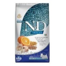 N&D OCEAN DOG LG Adult Mini Codfish & Orange 2,5 kg