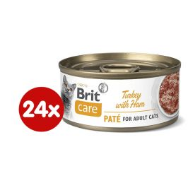 Brit Care Cat Turkey Paté with Ham 24x70 g