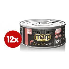 Marp Konzerva pro kočky s filety z lososa 12x70 g