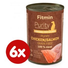 Fitmin Dog Purity tin PUPPY salmon with chicken 6x400 g