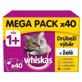 Whiskas kapsičky pro dospělé kočky drůběží výběr v želé 40 x 100 g