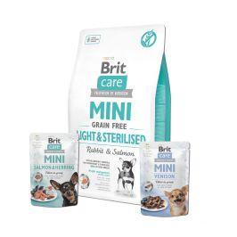 Brit Care Mini Grain Free Light & Sterilised 2 kg + 2x pouch 85g