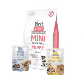 Brit Care Mini Grain Free Puppy Lamb 2 kg + 2x pouch 85g