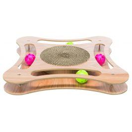 Trixie Škrábadlo v dřevěném rámu s hračkami, 35x4x35 cm