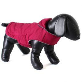 Doodlebone Oboustranný kabát Tweedie Raspberry/Navy vel. XL