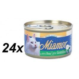 Finnern Konzerva Miamor Filet tuňák + zelenina 24 x 100g